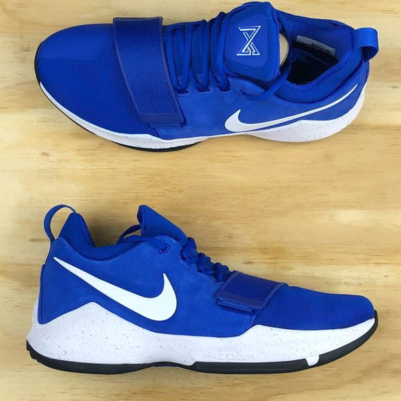 big sale e7d9a aa230 Nike PG 1 Paul George Blue White Basketball Shoes NWT